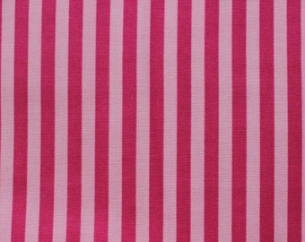 Paris Bebe Raspberry Stripe Fabric