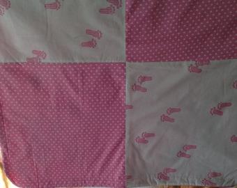 Baby blanket, blankie in pink