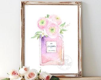 Chanel, no 5, perfume, coco chanel, chanel poster, print, fashion illustration, chanel perfume print, fashion print, fashion, chanel print