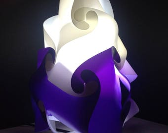Lamp has put large model purple and white