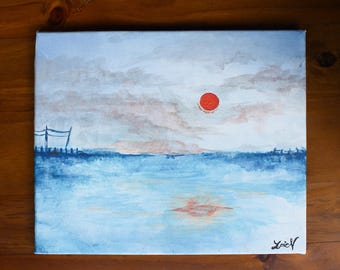 """The Sea With The Complimentary Colours (SIZE: 10""""x12"""")"""