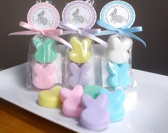 Bunny Baby Shower Favors - Bunny Baby Favors, Bunny Birthday Party, Bunny Party, Bunny Favors, Boy Baby Shower, Girl Baby Shower - Set of 10