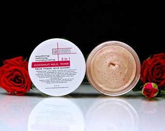 Coconut Milk Rose Cream Face Mask and Polish