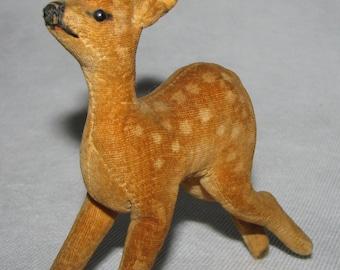 Vintage STEIFF spotted DEER velvet PLUSHIE stuffed Bambi roe