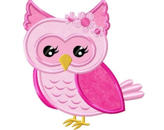 Sweet Owl... Applique Machine Embroidery DESIGN NO. 735