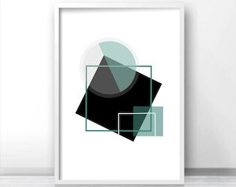 Abstract Printable Art, Modern Wall Art Print, Instant Download Geometric Art Print, Digital Download Print, Modern Wall Art Printable 8x10