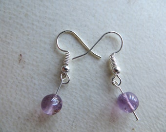 amethyst bead earrings