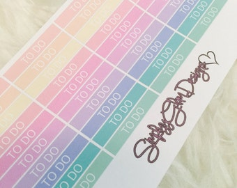 40 Rainbow TO DO Stickers | Erin Condren & Plum Planner
