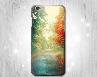 Autumn Leaves Road Trees Case iPhone X 8 8 Plus 7 6 5 SE Samsung Galaxy S8 S8+ S7 Edge S6 S5 Note J7 J3 A5 Asus Google Pixel HTC