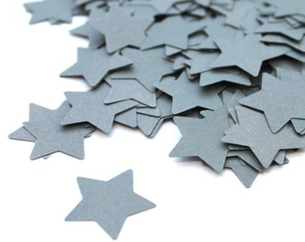Star Confetti, star, Various Colours, scrapbook, Rustic Wedding, Paper goods, Table Decor, deco, flower girl, scrapbook, handpunched, grey