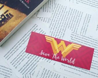 "Wonder Woman ""Save the Word"" Bookmark"