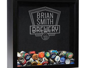 Beer Cap Shadow Box, Personalized Beer Cap Holder, Shadow Box, Man Cave Gift, Beer Gift, Groomsmen Gift, Gifts For Men