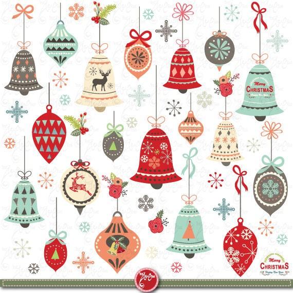 "Items Similar To Christmas Clip Art ""CHRISTMAS ORNAMENT"