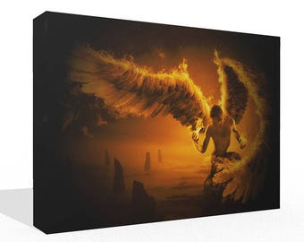 Fantasy Fire Flame Angel Canvas Print