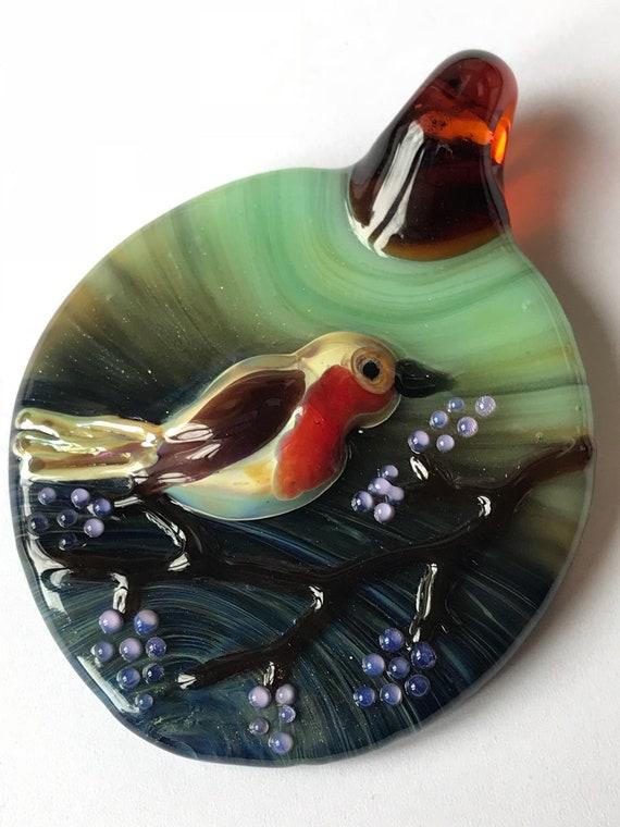 Glass Bird Pendy!