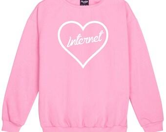 Internet Sweater Jumper Womens Ladies Fun Tumblr Hipster Swag Fashion Grunge Goth Top Cute Harajuku Sassy Kawaii Slogan Fashion Celebs Wifi