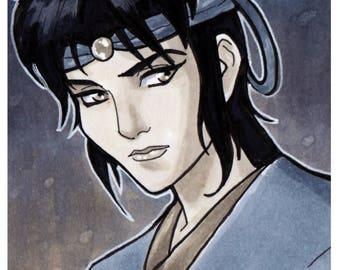 Kagero Ninja Scroll Copic Marker Sketch Card