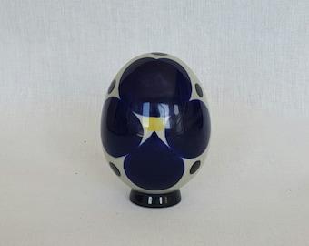 Lovely decorative porcelain egg by Sylvia Leuchovius for Rörstrand