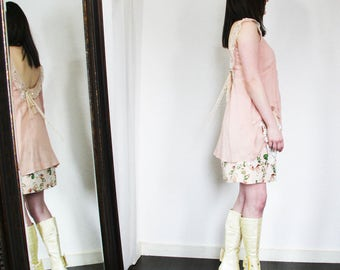 upcycled dress XS - S upcycled clothing, upcycled fashion, romantic shift dress . grenada moon