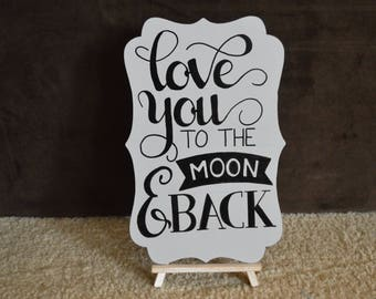 love you to the moon and back, home decor,