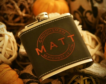 Groomsmen gift, Personalized flask, Groomsmen flask, Groomsman Gift, Monogram flask, Bestman Gift, Father of the bride, Best man gifts