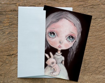 "LIMITED EDITION print signed numbered Chrishanthi' ""Fairy girls"" lowbrow pop surreal big eyes ,  gothic art"
