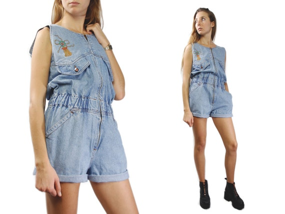 DENIM OVERALLS / Womens Overalls / Jean Overalls / Vintage Overall / Overall Shorts / YUMMY Vintage