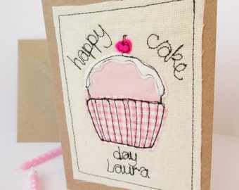 Happy cake day card - Personalised or Non-personalised