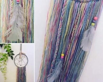 Handmade Pastel Boho Dream Catcher | Bespoke | Hippy