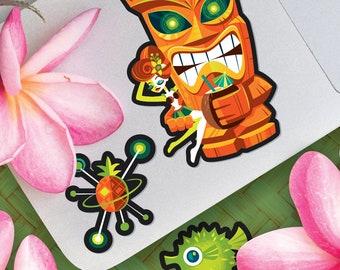Tiki Planet Vinyl Sticker