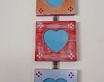 Heart, Triple Hanging Picture Frame
