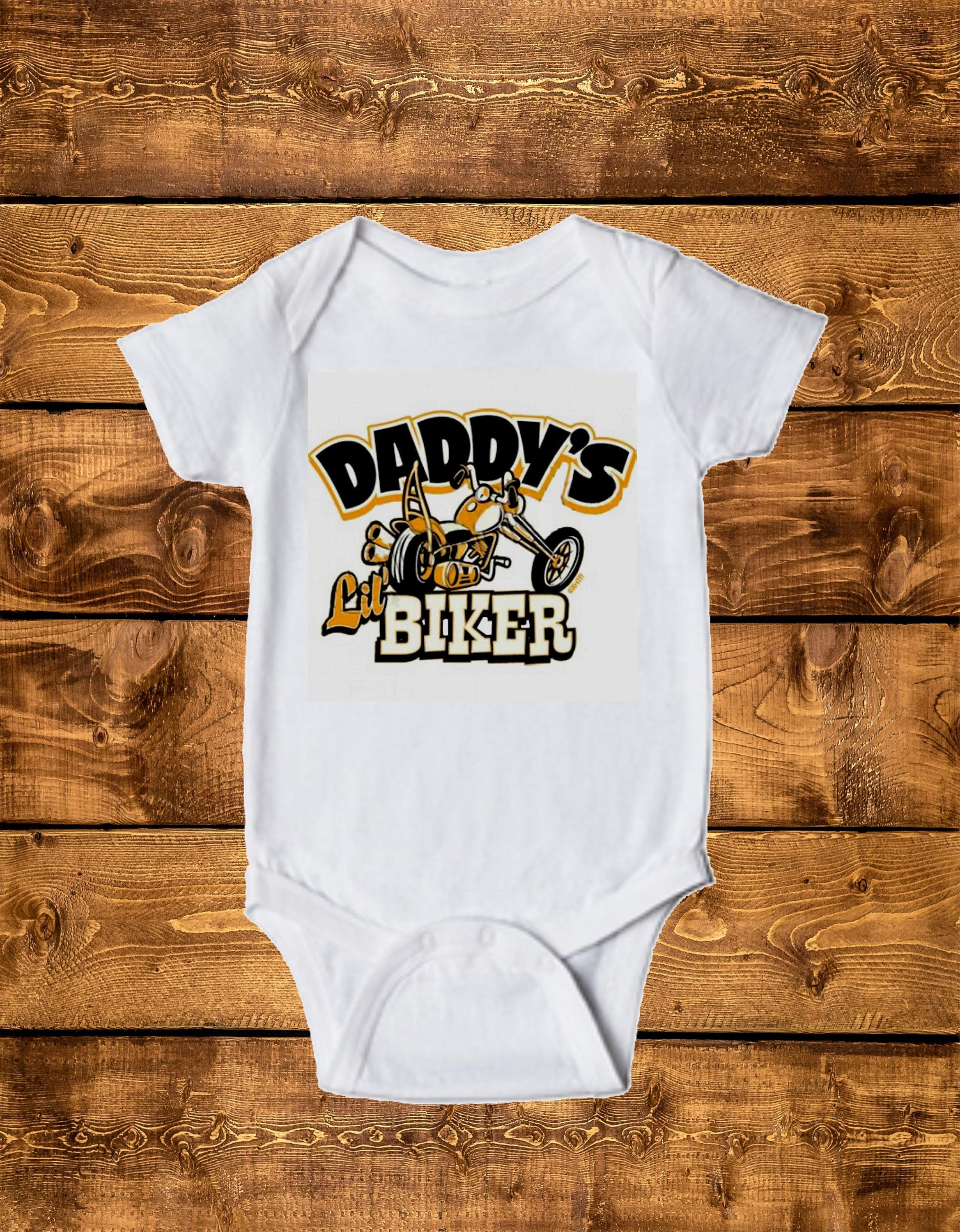 Daddy Lil Biker Infant Bodysuit Toddler Tee Baby e Piece