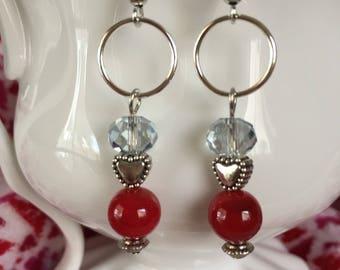 Bitsy hearts earrings!