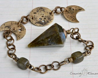 Labradorite Pendulum ~ Lunation Series