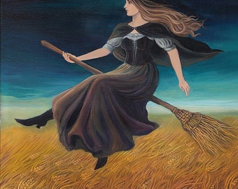 Barley Witch ACEO Pagan Art Goddess Art Mini Print Altar Art