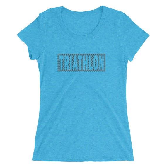 Women's Triathlon Triblend T-Shirt - Triathlon Shirt - Swim Bike Run Shirt - Women's Short Sleeve Shirt