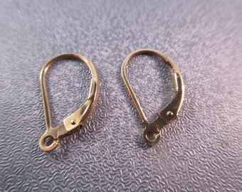 14k Gold Filled Interchangeable Leverback Earring 2pcs