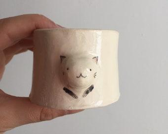 Tasse chat en céramique