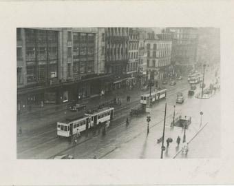 Street Scene, Brussels, c1950s: Vintage Snapshot Photo [81644]