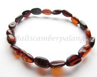 Baltic Amber Cherry Color Bracelet