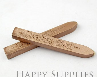 2pcs Light Bronze / CHAMPAGNE GOLD  Wick Sealing Wax Stick for Wax Seal Stamp (SW40-A)
