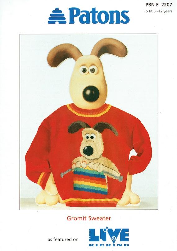 Hijos Wallace y Gromit tejer patrón de dibujos animados TV ...