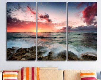 Sunset Bedroom decor Extra large wall art Wall art Bedroom wall art 3d wall art large wall art 3 piece wall art Bedroom wall decor Nature
