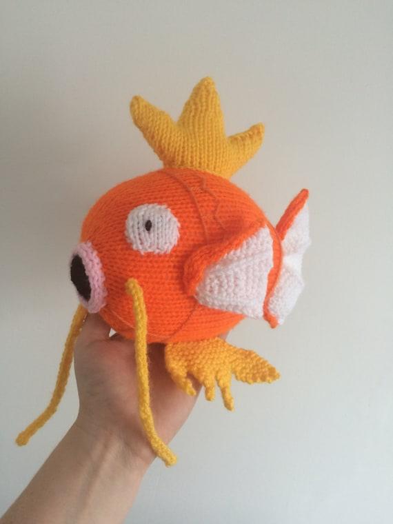 Magikarp Pokemon Knitting Pattern Plushie Toy Childrens Animal