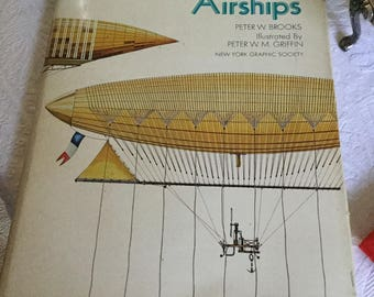 Vintage 1973 Peter Brooks Historic Airships Coffee Table Book/Read/Refrence/Historical