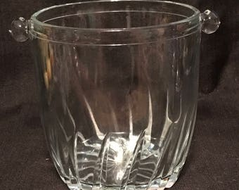 Vintage Ice Bucket Wine Server Clear Glass
