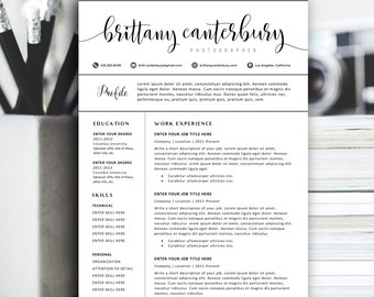 Creative Resume Template, Modern Resume Design for Word | 1+2 page resumes, cover letter, icons | Instant Download | SALE on 2 or more