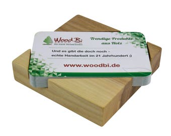 WoodBi | High quality business card from Acacia tree | Business card holder made of wood | Business Postcard