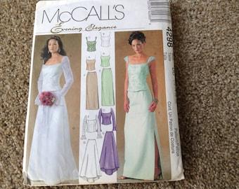McCall's 4298  Ladies  Wedding Dress /bridesmaid dress  12- 14-16- 18 uncut