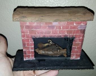 Miniature Farmhouse Fireplace